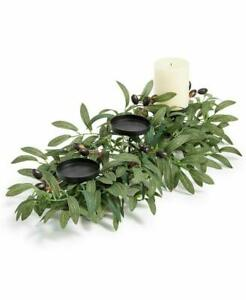 Martha Stewart Olive Leaf Three Candle Table Centerpiece