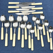 Martha Stewart MSE COTTAGE Stainless Plastic Flatware 21 Pcs Teaspoons Knife