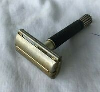 *Vintage Gillette Safety Razor black handle ** as found **
