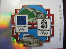 Beijing 2008 Olympic Pin - Athens 2004 to Beijing 2008 Summer Olympic