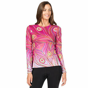 Terry Soleil Flow Long Sleeve Jersey Women's Size S Peacock