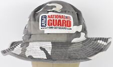 Gray White & Black Camouflage Army National Gurad Bucket Boonie Hat Cap Fitted