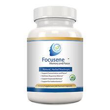 Focusene - Complete, Natural Nootropic - Luteolin+Forskolin+Ginkgo - ADD/ADHD