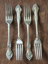 """Lot of 4 Vintage GORHAM Sterling Silver ENGLISH GADROON 7 1/8"""" Dinner Forks 1939"""