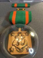 US Navy  Achievement Medal With Ribbon, Lapel Pin (3 pcs Set) New
