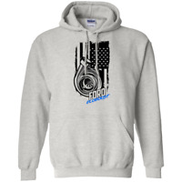 Ecoboost American Flag Pullover Hoodie Turbo F-150 Mustang ST