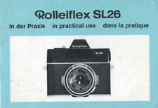 Rollei Rolleiflex SL26 Instruction Manual (German, English, French)
