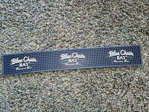 """Blue Chair Bay Kenny Chesney Rum Rubber Bar Spill Drip Mat Rail Runner 23"""" x 3.5"""