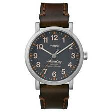 Timex Men's The Waterbury 40mm Leather Band Steel Case Quartz Watch Tw2p58700