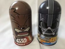 "Star Wars Chewbacca & Darth Vadar Puzzles 15"" x 11.25"" in Metal Tins Lot"