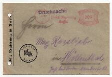 1932 GERMANY Cover KASSEL to HÖLLENTAL Government Official METER MAIL 4pf