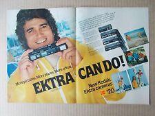 KODAK EKTRA CAMERA with MICHAEL LANDON 1978 VINTAGE 2 PAGE MAGAZINE AD  INV#286