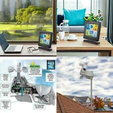 Weather Station Wireless with 5-in-1 Sensor: Temperature and Humidity Gauge Rain