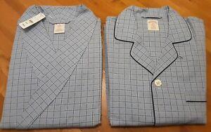 Brooks Brothers Mens Sz Medium Plaid Robe and Pajama Set Shirt Pants  New