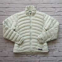 Patagonia Quilted Down Sweater Jacket Womens Size XS Puffy Mint Green