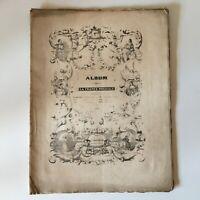 Spartito Album Della Francia Musicale 1841 Au Ufficio
