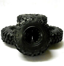 HS212004 1/10 RC Off Road Rock Crawler Tread Pneu Noir 108 mm Mousse Insérer Inlay