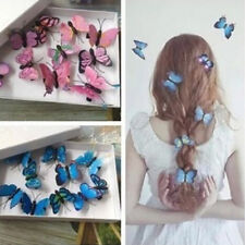4Pcs Butterfly Hair Clips Bridal Hair Accessories Wedding Photography Costume Hu