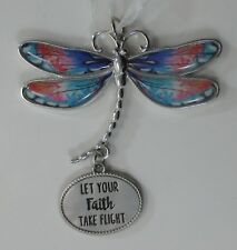 zzx Let your faith take flight Delightful Dragonfly Message Ornament