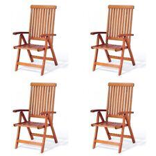 Krzesło ogrodowe składane Wellington (5-pozycyjne) 4 szt.