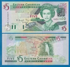 "East Caribbean States 5 Dollars P 42d UNC ""DOMINICA"" Low Shipping Combine! 42 D"