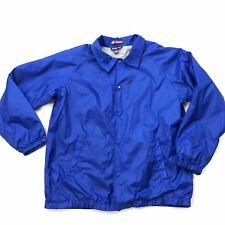 Vintage Windbreaker Jacket XL Mens Cobalt Blue Nylon Solid Haritton