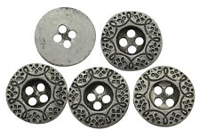 140 Wholesale Metal Round Button Embellishment Flat 4 Hole DIY Sewing Accessory
