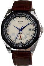 Minoir Uhren - Modell Morez silber / braun - Automatikuhr Herrenuhr Tachymeter