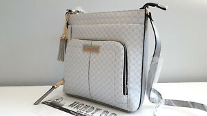 RIVER ISLAND Grey RI Monogram Messenger Bag BNWT