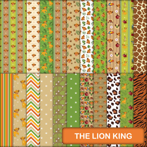 THE LION KING INSPIRED SCRAPBOOK / CRAFT PAPER - 21 x A4 pages