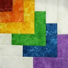 { 16 } Pre-Sewn Already Pieced Stonehenge Rainbow Kisses Quilt Blocks ~ 12.5""