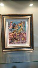 Tableau huile sur toile vintage art abstrait signer tondon