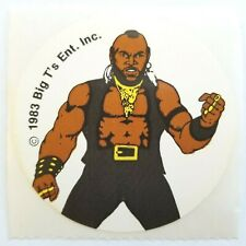 Vintage 1983 Big T's Enterprises MR. T Scratch and Sniff Stickers BODY ODOR