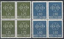 1959 ITALIA EUROPA QUARTINA MNH **