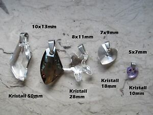Collierschlaufen Anhänger Schlaufen aus Edelstahl z.B. für Kristallanhänger