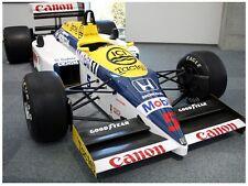 Unpainted 1/10 FW11B Williams Honda F1 RC body decal set for Tamiya F103 F104w