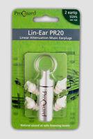 Proguard Lin-Ear PR20 linear attenuation music earplugs musicians ear plugs