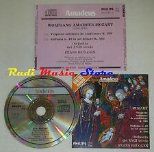 CD MOZART Vesperae solemnes confessore 339 sinfonia 40 FRANS BRUGGEN lp mc dvd