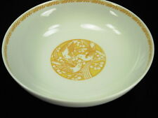 GENUINE LALIQUE LIMOGES YELLOW MERLES ET RAISINS CEREAL BOWL - NEW OLD STOCK!!