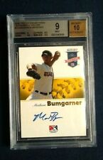2008 TRISTAR Projections Madison Bumgarner Yellow Auto 08/25 BGS 9 Mint 10 Auto