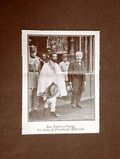 Parigi nel 1924 Ras Tafari in visita presso il Presidente Millerand Francia