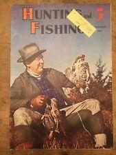 HUNTING AND FISHING Nov 1941 Magazine Photo Cover Quail Hunter w His Catch