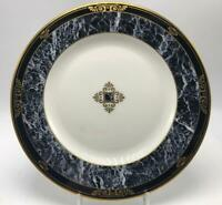 Dorian Marble Accent by Lenox Salad Plate White Black Marble Band Gold Trim USA