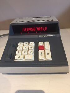 RARE Burroughs C5050  vintage 1970s calculator,With Instructions/ Dust Cover VGC