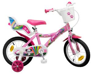 """14 ZOLL 14"""" Kinderfahrrad Mädchenfahrrad Kinder Kinderrad Fahrrad Rad Bike Pink"""