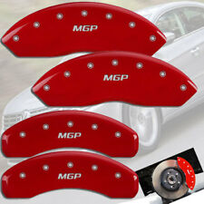 """2013-2017 Volkswagen CC 2.0L Front + Rear Red """"MGP"""" Brake Disc Caliper Covers"""
