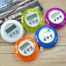 New Digital LCD Round Timer Kitchen Sports 99 Minutes Button Countdown Alarm