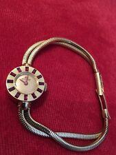 Super Rare Bucherer Ladies 1960's Vintage 18ct Gold & Ruby Dress Watch