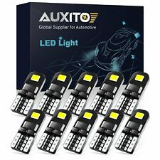 10pc Super Bright 501 Led Side Light Bulbs Canbus T10 Number Plate Interior Lamp