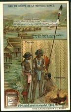 New Guinea Oceania Natives Weapons c1910 Trade Ad Card